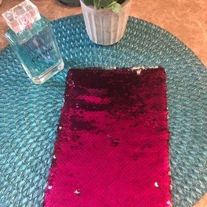 Office - Purple And Silver Sequin Note Book